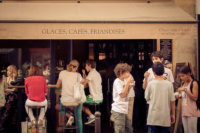 Ice-cream time in Paris