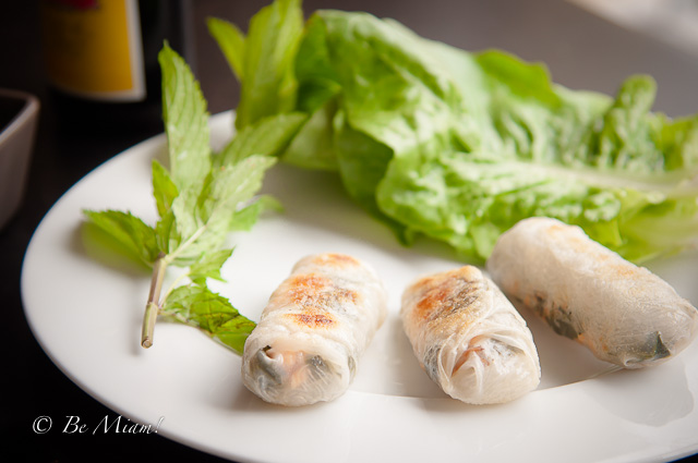 Kale and salmon spring rolls recipe