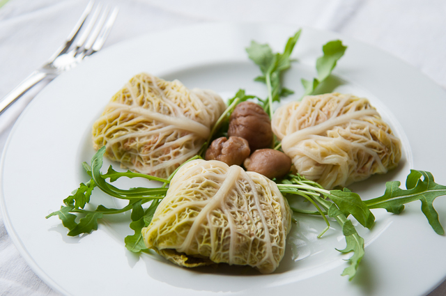 vegetarian stuffed cabbage with chesnut-7