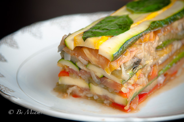Summer vegetable terrine with sauce vierge by ladur e for Tomato terrine